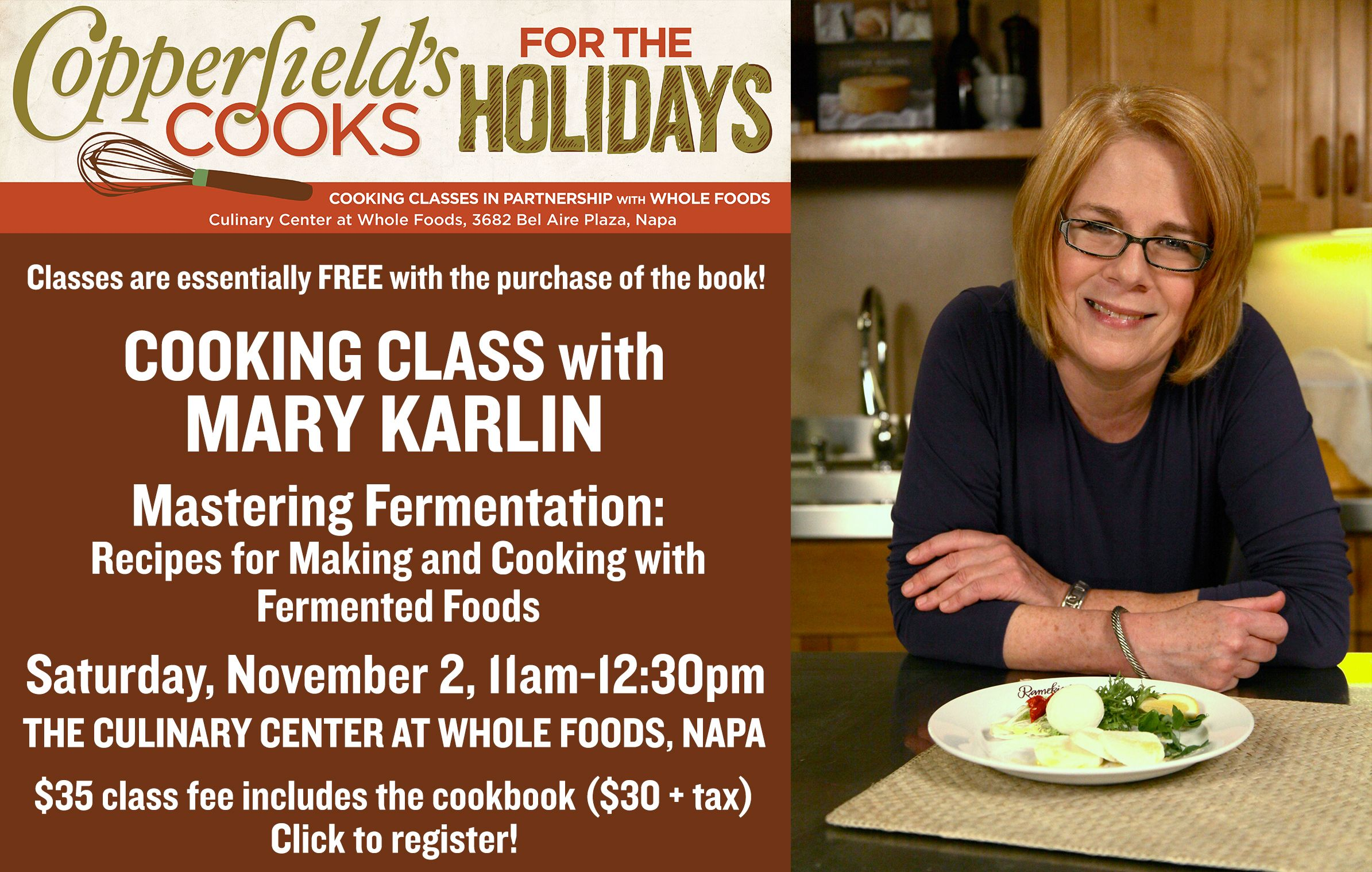 Mary Karlin Cooking Class